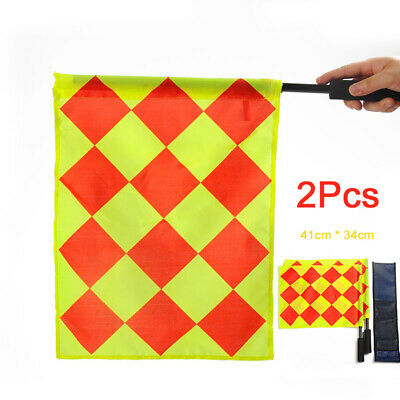 Hot Sale 2pcs Sports Champion Linesman Flag Referee Soccer Flags