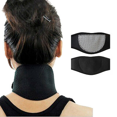 New Therapy Tourmaline Thermal Neck Wrap Pad  Neck Pain Self Heating Collar