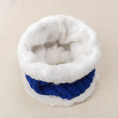 Cute Kids Baby Winter Warm Scarf Thick Velvet O Ring Scarves Scarf Collar Neck