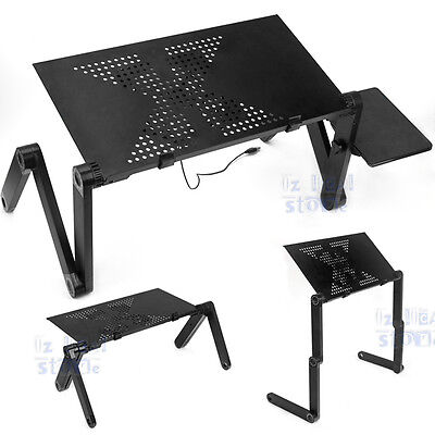 New Portable Laptop Stand/Desk/Table/Tray on sofa/bed w cooling fan/mouse pad