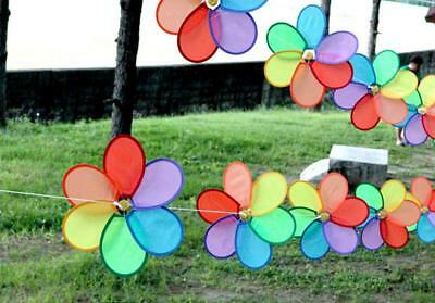 Outdoor Colors Flower Windmill Wind Spinner Tent Festival Party Garden Decor