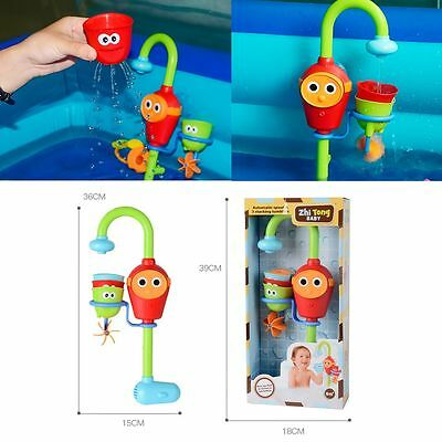 Flow N' Fill Spout Automatic Play Cartoon Fun Bath Toys Gift For Kids Baby