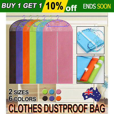 Garment Cover Dustproof Storage Bag Dress Clothes Coat Jacket Protector Washable