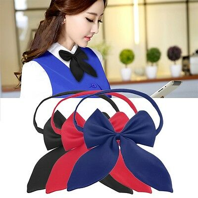 New Women Girl Fashion Party Banquet Solid Color Adjustable Bow Tie Cute HR