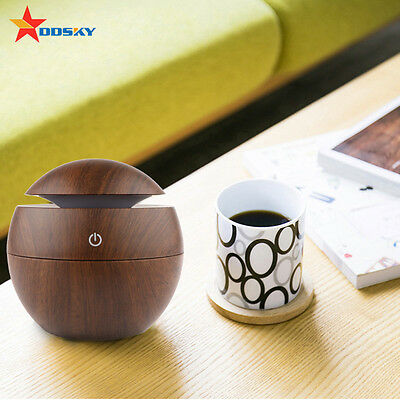 USB LED Ultrasonic Humidifier Purifier Aroma Aromatherapy Essential Oil Diffuser