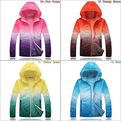 Womens Cycling Running Hiking Sports Windproof Jacket Outdoor Hooded Windbreaker