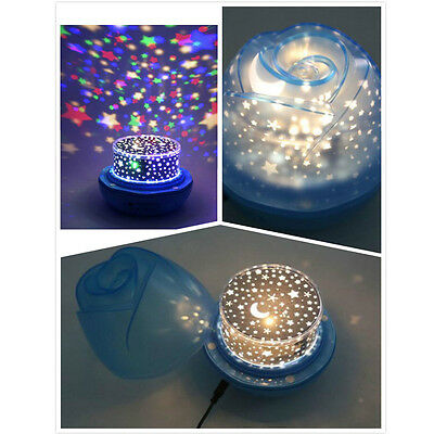 Star Moon Starry Night Sky Projector LED Light Lamp For Kids Baby Bedroom Gift