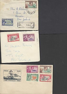 Pitcairn Island Covers x 3 including registered cover A23