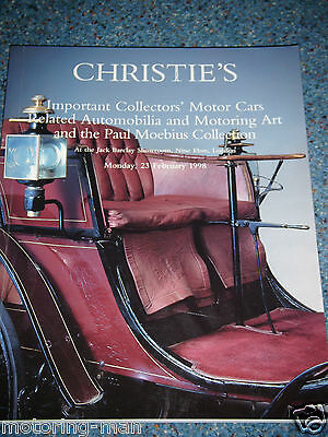 Christies Auction Catalogue Febuary 1998 London Paul Moebius Collection Delage