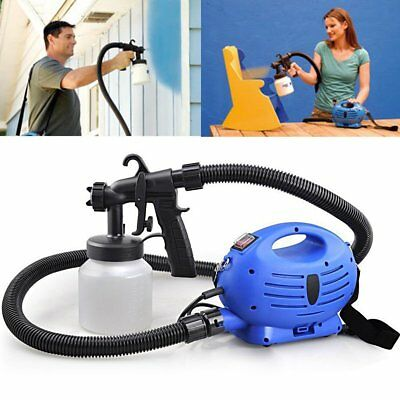 240V 800ml Electric Turbine Paint Sprayer HVLP Spray Gun 3 Spray Settings Fences