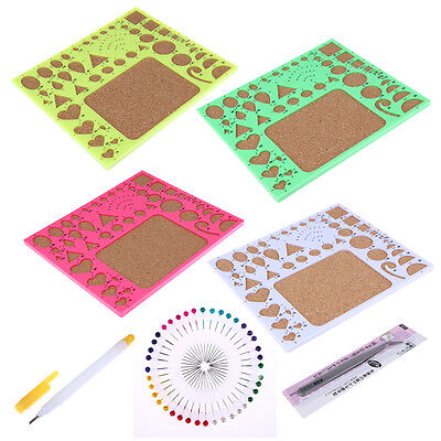 1 Set Starter DIY Tool Paper Quilling Rolling Tools Mould Needle Board Pen Kit