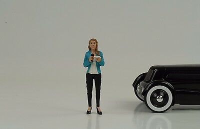 Figurine Reporter Camera Pit Crew Street Racing 1:18 American Diorama no car