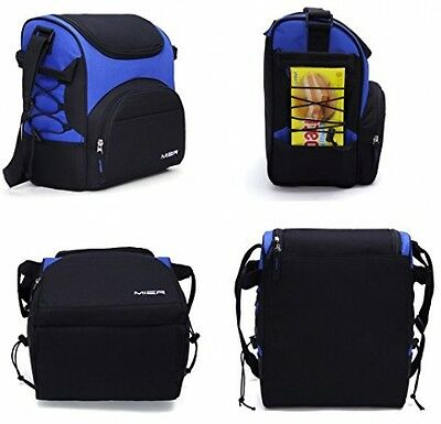 MIER Large Insulated Lunch Bag Picnic Cool Bag with Bottle Holder New