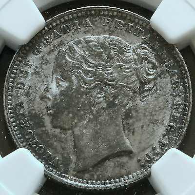 1868 Queen Victoria Young Head Silver Shilling – NGC AU 58