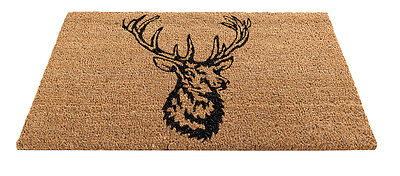 Gardman Insert Door Mat Stag Decor Tough Coir Pile 45x75cm Indoor Outdoor