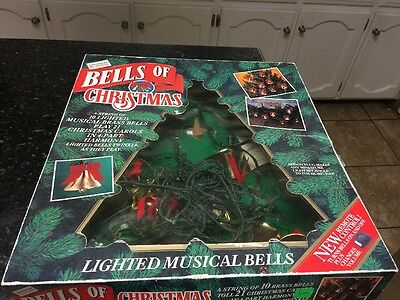 1992 Mr. Christmas Lighted Bells Of Christmas With Remote