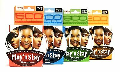 New Eco Styler Professional Play N' Stay Edge & Style Control Pomade In 4 Types