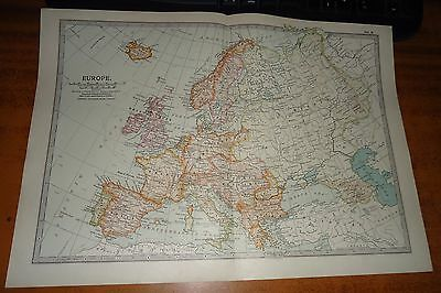 EUROPE - ADAM & CHARLES - THE TIMES Antique Map 1903
