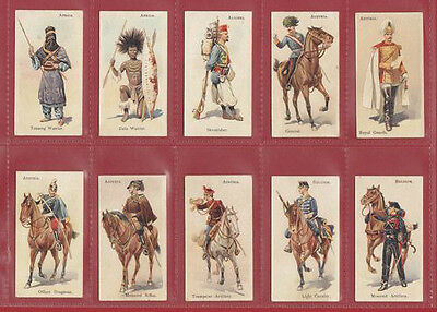 W. D. & H. O. Wills - Extremely Rare Set Of 101 Soldiers Of The World  -  1895