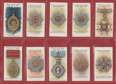 Taddy & Co.  -  Extremely Rare Set Of  25 Orders Of Chivalry 2Nd  Cards - 1912
