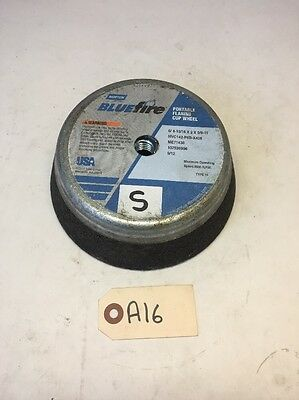 Norton Blue Fire Grinding Flaring Cup Wheel 6/4-13/16 x 2 x 5/8-11 ME71438