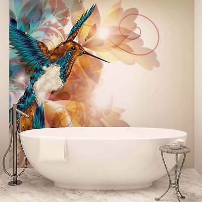 WALL MURAL PHOTO WALLPAPER XXL Birds Hummingbirds Flowers Abstract (423WS)