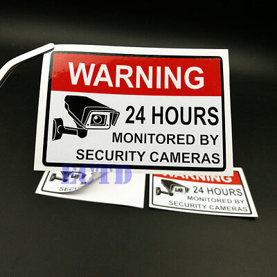 VIDEO SURVEILLANCE Security Burglar Alarm Decal Warning Sticker Signs
