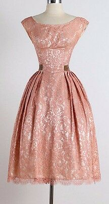 Vintage 1950's Rockabilly Dress New Sleeveless Lace Ball Gown Party Tunic Dress