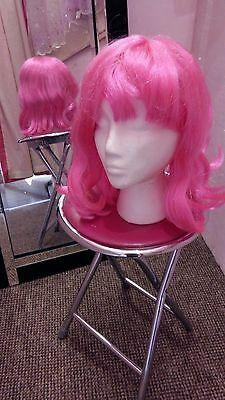 Dance Costume Wigs Job Lot x 10 (Pink) Suit LazyTown/Hairspray/Grease, Worn once