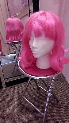 Pink Wigs Job Lot x 10 suitable for Hen Night or Lazy Town (Ex-Costume Hire)