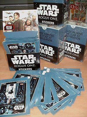 Topps Disney Star Wars Rogue One Stickers: quantity: 10 25 50 packets or Box