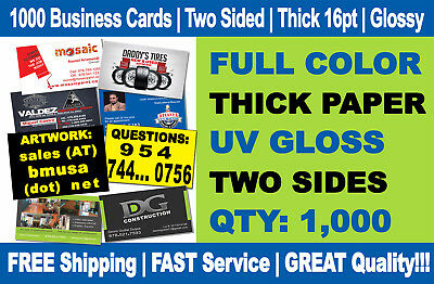 1000 Full Color Double Side Custom Business Cards We Can Design for You Must see