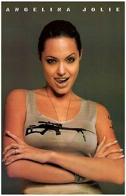 ANGELINA JOLIE Poster - Sexy Celebrity Full Size 24x36 Print ~ Tombraider Tongue