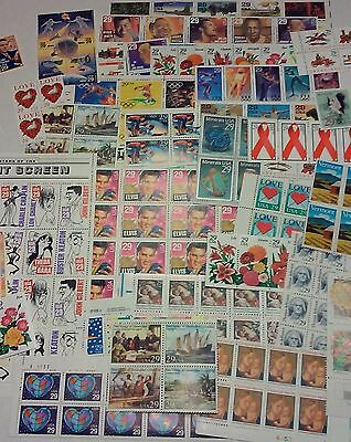 New 100 of Multiples & Strips & Singles of 29¢ US PS Postage Stamps. FV: $29.00