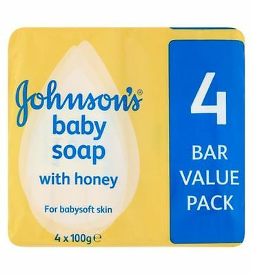 Johnson's Baby Soap With Honey For Baby Soft Skin 4 x 100g (1 pack)