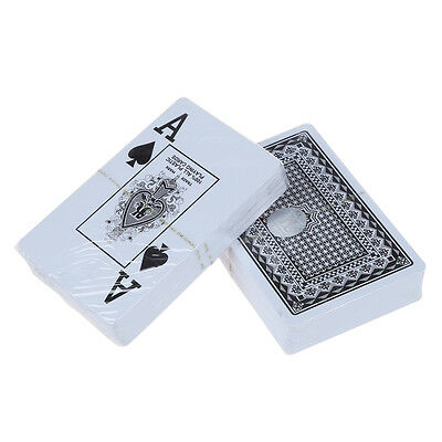 UK 2 X Deck Set 100% Plastic Poker Size Playing Cards Fun Time DT