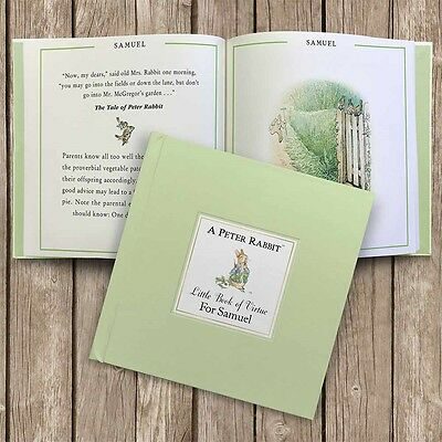 Personalised Childrens Beatrix Potter Peter Rabbit Book. Gift Box.