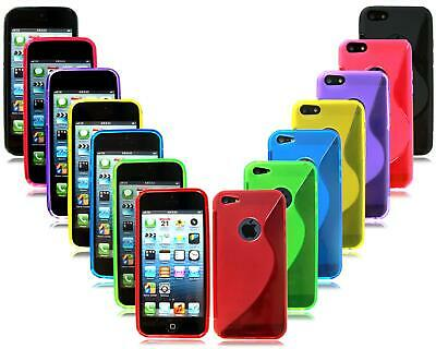 For Apple Iphone 5 5S 5SE New Slim Gel Silicon Rubber Phone Case + Screen Guard