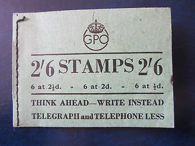 Great Britain Mint Partly Used Booklet Dec. 1944  Ww2