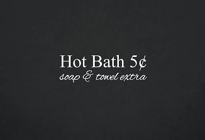 Hot Bath 5 Cents Soap and Towel Extra Quote Wall Decal Bathroom Decor 2175