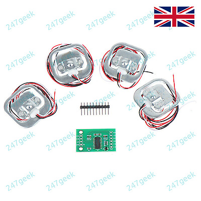 4x 50Kg Load Cell Weighing Scale Sensor for Arduino PIC / HX711 - UK STOCK