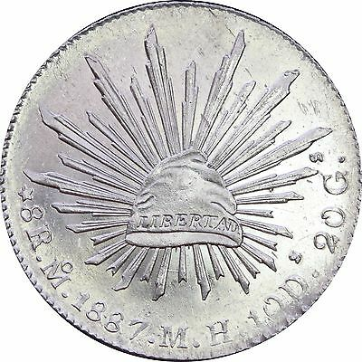 Mexico 8 Reales Mo 1887 M.H. Mexico Mint, KM# 377.10 Beautiful!!