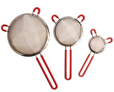 Practical Trends Strainer Sifter Sieve | Premium Grade Stainless Steel Set of 3