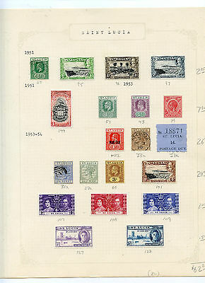 Weeda St. Lucia 27a//418, MR2 Mint collection, 1883-1977 issues CV $70.15