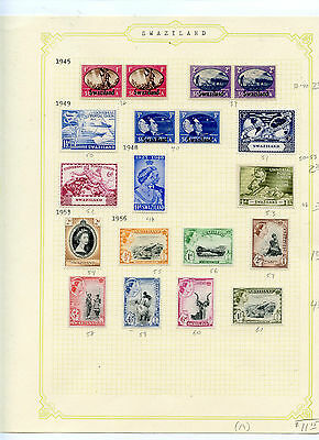 Weeda Swaziland 38//302 Mint collection, 1945-1978 issues CV $27.70