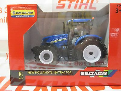 Britains 43147A1 Model New Holland T6.180 Tractor 1:32 Replica Farm Agri Toy