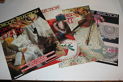 Lot de 4 magazines  - Crochet d'Art  Tricot selection  -  Lot D 2