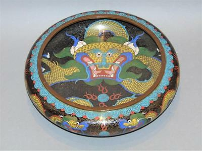Chinese Cloisonne Dragon Bowl Early 20th Century