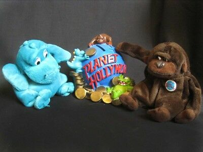 PLANET HOLLYWOOD Collection Money Box Bank Plus Plush Toys: Bubba & George