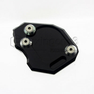 Left Black Kickstand Side Stand Plate Extension Pad Fit BMW F800GS 2008-2014 13